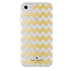 Kate Spade IPhone 6 Gold Chevron Case